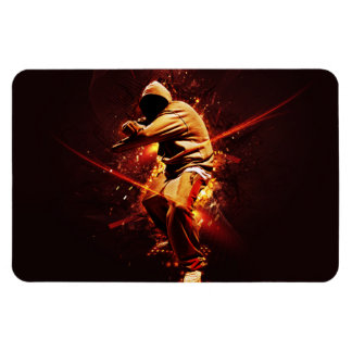 breakdancer del hip-hop imán foto rectangular