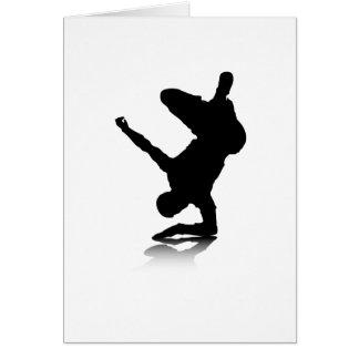 Breakdancer (en codo) tarjeta de felicitación
