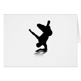 Breakdancer (on elbow) greeting card