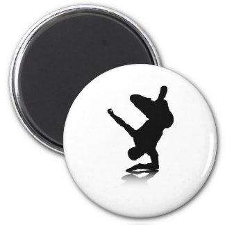 Breakdancer (on elbow) refrigerator magnet