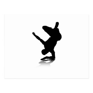 Breakdancer (on elbow) postcard