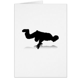 Breakdancer (on one hand) greeting card