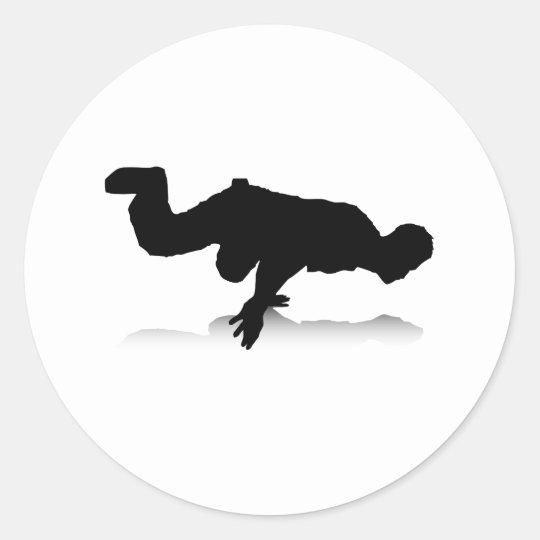 Breakdancer (on one hand) classic round sticker
