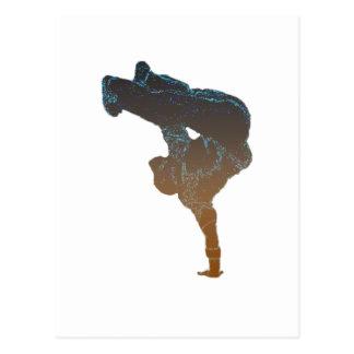Breakdancer Postcard