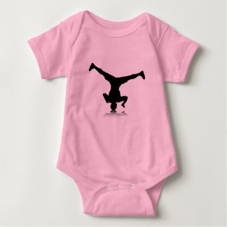 Breakdancer (spin) baby bodysuit