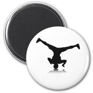 Breakdancer (spin) fridge magnet