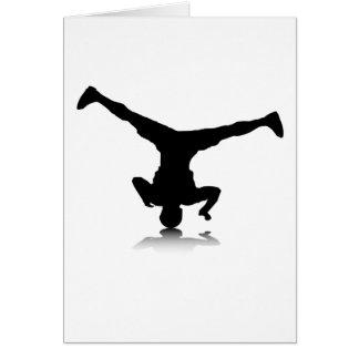 Breakdancer (vuelta) tarjeta de felicitación