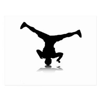Breakdancer (vuelta) postal