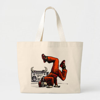 Breakdancer y caja Hip Hop Bolsa