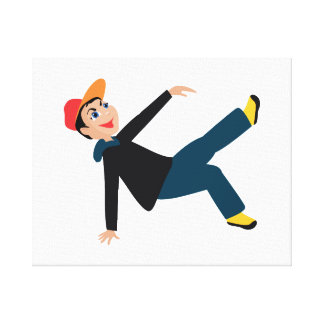 breakdancing boy graphic.png canvas print