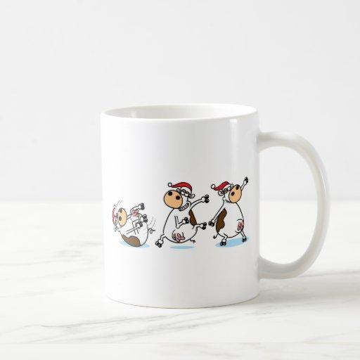 Breakdancing Cows at Christmas Coffee Mug