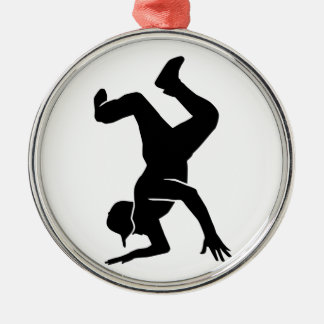 Breakdancing Metal Ornament