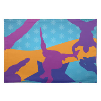 Breakdancing Silhouettes Placemat