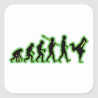 Breakdancing Square Stickers