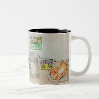 Breakdancing Two-Tone Coffee Mug
