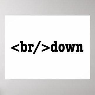 breakdown HTML Code Poster