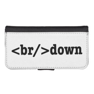 breakdown HTML Code Wallet Phone Case For iPhone SE/5/5s
