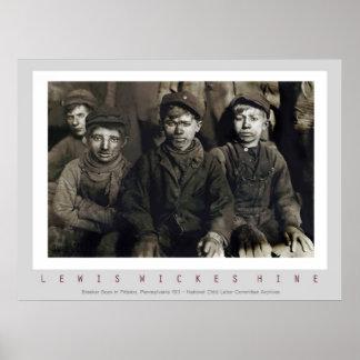 Breaker Boys by Lewis Wickes Hine Posters