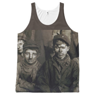 Breaker Boys - Lewis Wickes Hine - Child Labor All-Over-Print Tank Top