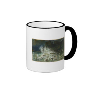 Breakers off Granville Point in the Channel Ringer Mug