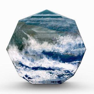 Breakers on the Rocks Seascape Ocean Waves Art Acrylic Award