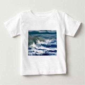 Breakers on the Rocks Seascape Ocean Waves Art Baby T-Shirt