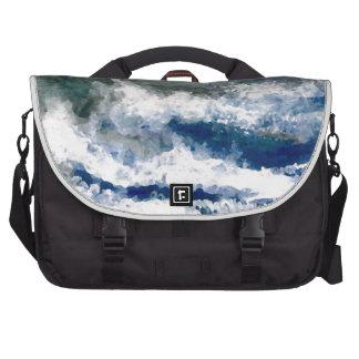 Breakers on the Rocks Seascape Ocean Waves Art Laptop Commuter Bag