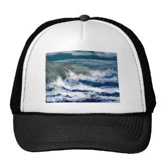 Breakers on the Rocks Seascape Ocean Waves Art Trucker Hat