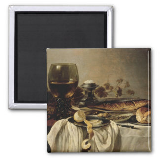 Breakfast, 1646 2 inch square magnet