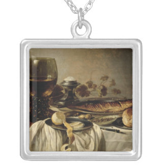 Breakfast, 1646 silver plated necklace