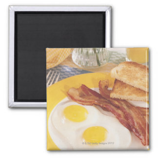 Breakfast 2 2 inch square magnet
