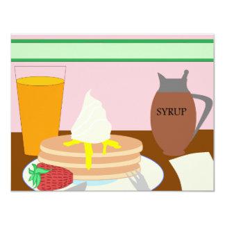 Breakfast 4.25x5.5 Paper Invitation Card
