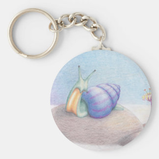 Breakfast above the clouds basic round button keychain