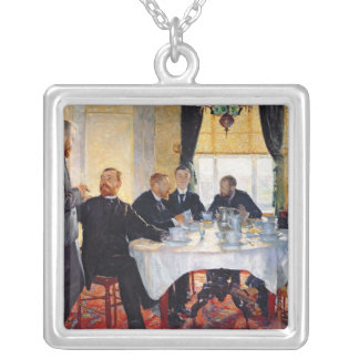 Breakfast at Blankenberghe Silver Plated Necklace
