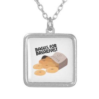 Breakfast Bagels Custom Necklace