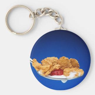 Breakfast Basic Round Button Keychain