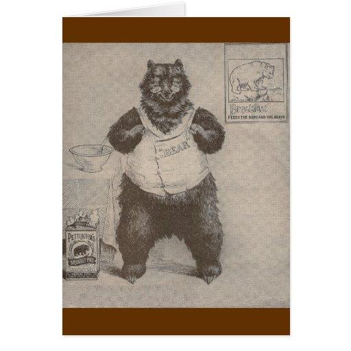 Breakfast Bear Greeting Card
