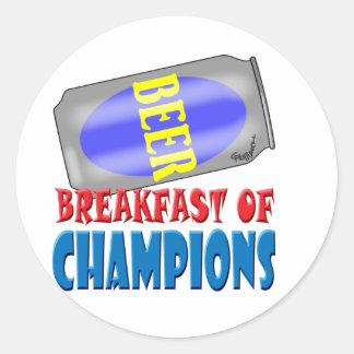 Breakfast Beer Classic Round Sticker