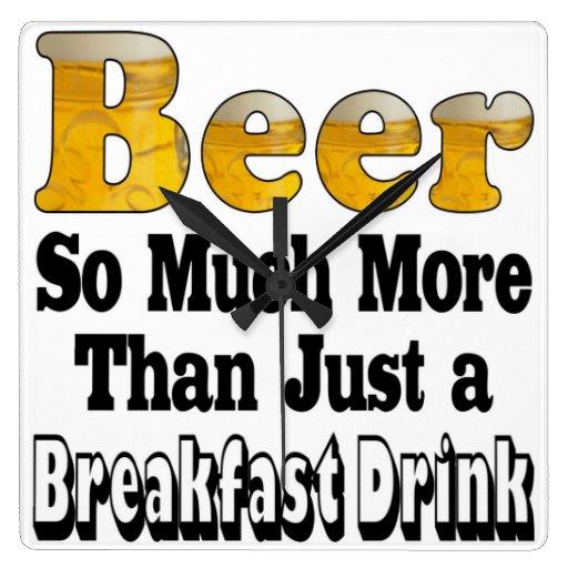 Breakfast Beer Clocks