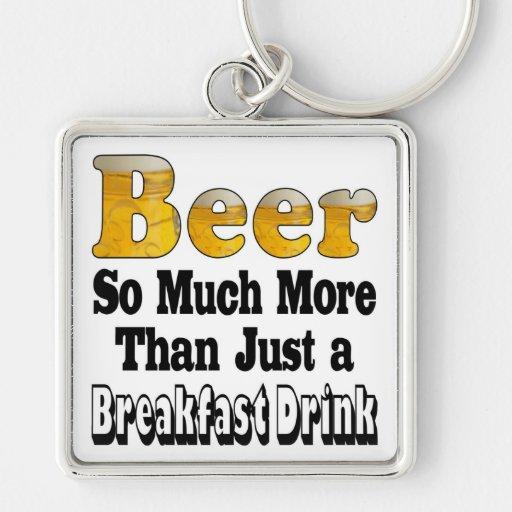 Breakfast Beer Key Chain