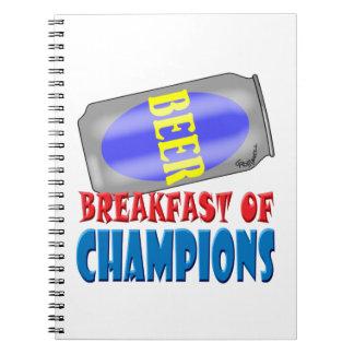 Breakfast Beer Spiral Notebooks