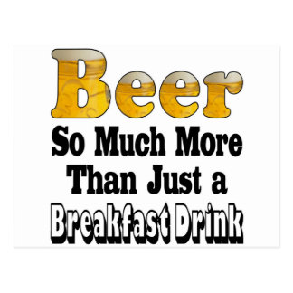 Breakfast Beer Postcard