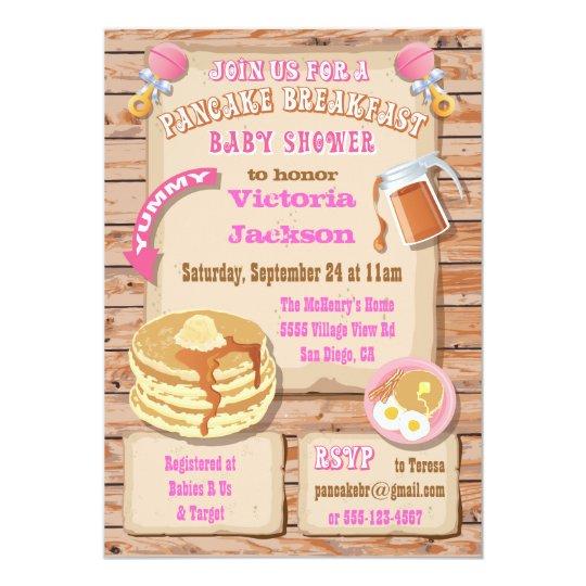 Breakfast Brunch Baby Shower Invitations Zazzle
