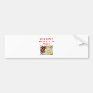 breakfast bumper sticker
