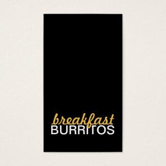 breakfast burritos punch card