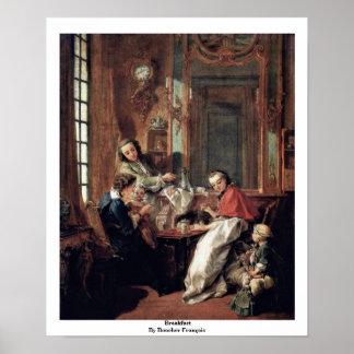 Breakfast By Boucher François Poster