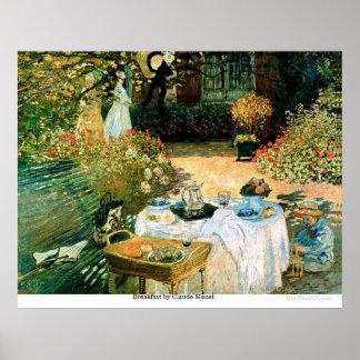 Breakfast by Claude Monet Print
