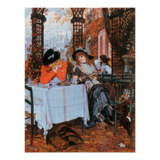 Breakfast by James Tissot Posters