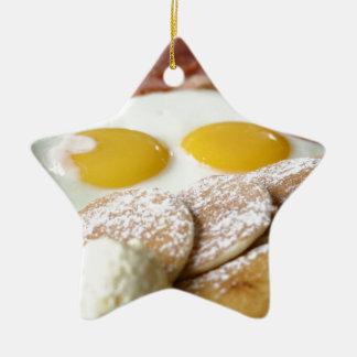 Breakfast Ceramic Ornament