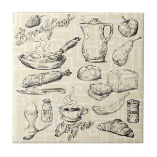 Breakfast Ceramic Tile